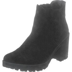 Bianco Biacorvina Suede Boot Black, Kengät, Saappaat ja saapikkaat, Nilkkurit, Musta, Naiset, 36