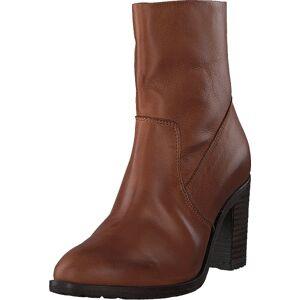 Bianco Biacofia Leather Boot Cognac, Kengät, Saappaat ja Saapikkaat, Korkeat nilkkurit, Ruskea, Naiset, 41
