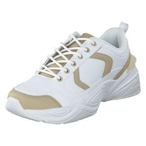 NA-KD Street Chunky Sneaker Beige/white, Naiset, Kengät, Tennarit, Valkoinen, EU 37