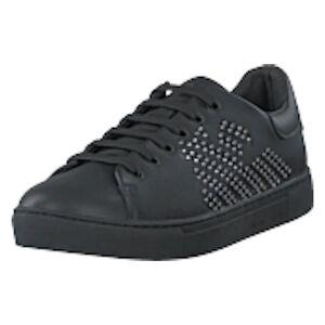 Emporio Armani Lace Up Sneaker B168 Black+silver, Shoes, musta, EU 39