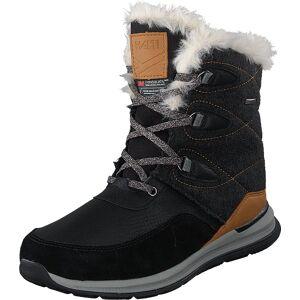 Halti Poplar Dx W Black, Kengät, Bootsit, Lämminvuoriset kengät, Musta, Naiset, 39