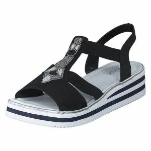 Rieker V02g9-00 Black, Naiset, shoes, valkoinen, EU 38