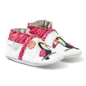 Robeez Soft Soles Leather Crib Shoes Tropical Toucan/White Lasten kengt 17-18 (0-6 months)