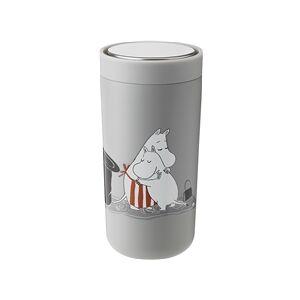 Stelton Moomin To Go Click 0,4 L 0.4 liter Soft light grey