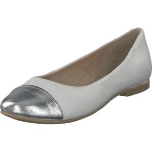 Cavalet Bibbi White, Sko, Lave sko, Ballerina, Grå, Dame, 36
