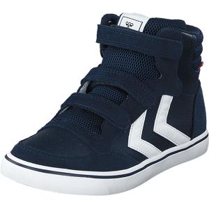 Hummel Stadil Leather High Jr Black Iris, Sko, Sneakers & Sportsko, Høye Sneakers, Blå, Unisex, 34
