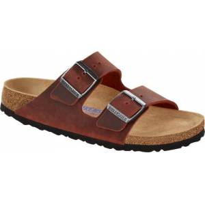 Birkenstock Arizona Oiled Leather Narrow SFB - Earth Red