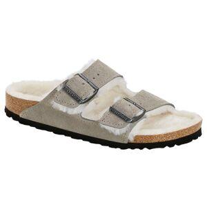 Birkenstock Arizona Suede Fur - Grey