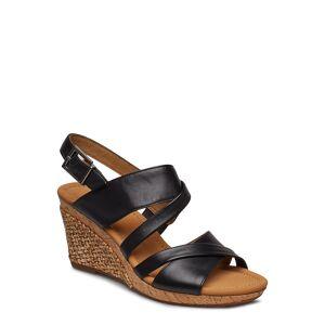 Gabor Sling Sandals Sandal Med Hl Espadrilles Svart Gabor