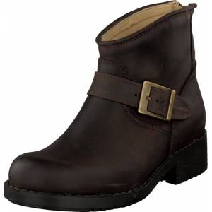Johnny Bulls Very Low Boot Zip Back Brown/Gold, Sko, Boots, Chelsea boots, Brun, Dame, 41