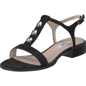 Clarks Bliss Shimmer Black Sde, Sko, Pumps & Høyhælte, Sandaletter med lave hæler, Svart, Dame, 40