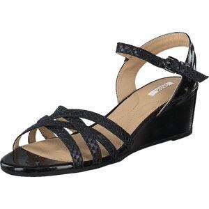 Geox Lupe Black, Sko, Sandaler & Tøfler, Flate sandaler, Beige, Svart, Dame, 36