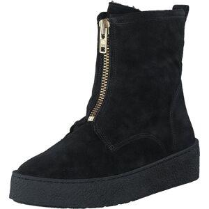 Billi Bi 502 Black Suede Gold Black Sole Black, Sko, Boots, Høye boots, Svart, Dame, 39