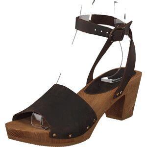 Sanita Clogs Yara Ant.brown, Sko, Høyhælte, Sandaletter med lave hæler, Brun, Dame, 38