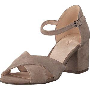 Bianco Front Cross Sandal Nougat, Sko, Pumps & Høyhælte, Sandaletter med lave hæler, Brun, Dame, 38