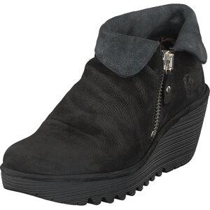 Fly London Yoxi755 Cupido/griffon-black/anthracit, Sko, Boots, Chelsea boots, Svart, Dame, 38