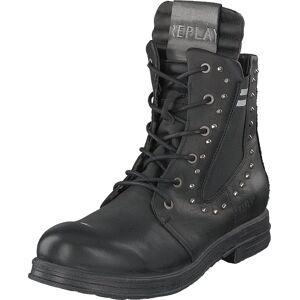 Replay Skin Black, Sko, Boots, Høye boots, Svart, Dame, 36