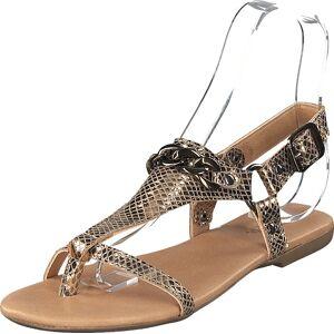Bianco Becca Verona Leather Sandal 930 - Gold, Sko, Sandaler & Tøfler, Flate sandaler, Beige, Dame, 37