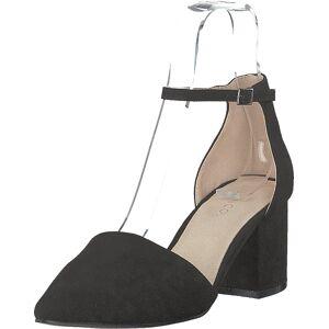 Bianco Divided D'orsay Pump 101 - Black 1, Sko, Høyhælte, Sandaletter med lave hæler, Svart, Dame, 40