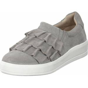 Bianco Betina Suede Frill Shoe 151 - Light Grey 1, Sko, Lave sko, Tursko, Grå, Dame, 39