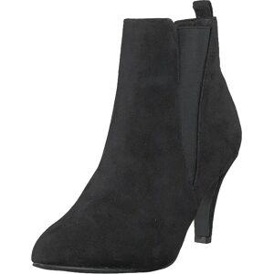 Bianco Low Heel Chelsea Black, Sko, Støvler & Støvletter, Støvletter, Svart, Dame, 41