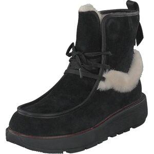 Fitflop Greta Moccasin Ankle Boot All Black, Sko, Boots, Varmforet boots, Svart, Dame, 39