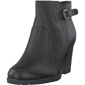 Clarks Verona Gleam Black Leather, Sko, Støvler & Støvletter, Støvletter, Svart, Dame, 38