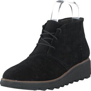 Clarks Sharon Hop Black Suede, Sko, Boots, Chukka boots, Svart, Dame, 39
