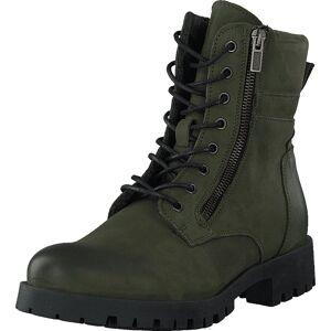 Bianco Biacollins Winter Leather Boot Army Green, Sko, Boots, Kraftige støvler, Grønn, Dame, 37