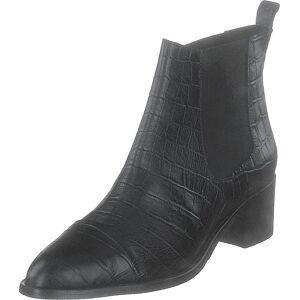 Bianco Biacarol Croco Dress Chelsea Black, Sko, Støvler og Støvletter, Støvletter, Svart, Dame, 38