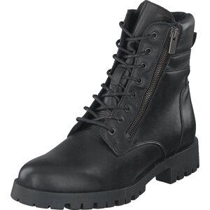 Bianco Biacollins Winter Leather Boot Black, Sko, Boots, Kraftige støvler, Svart, Dame, 38