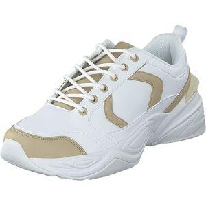 NA-KD Street Chunky Sneaker Beige/white, Sko, Sneakers og Treningssko, Sneakers, Hvit, Dame, 38