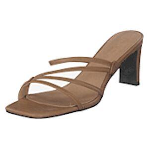NA-KD Squared Strappy Sandals Beige, Shoes, brun, EU 37