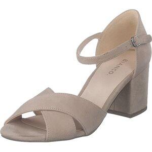 Bianco Biacate Suede Cross Sandal 271 Nougat 1, Sko, Høyhælte, Pumps med lave hæler, Brun, Dame, 36