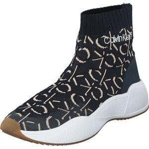 Calvin Klein Jeans Babele Deep Navy, Sko, Sneakers og Treningssko, Høye Sneakers, Blå, Dame, 36