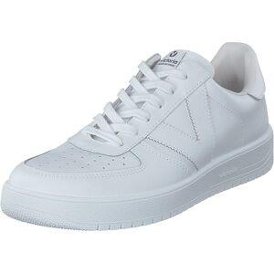 Victoria Siempre Piel Blanco, Sko, Sneakers og Treningssko, Sneakers, Blå, Unisex, 42