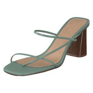 NA-KD Fine Strappy Block Heel Pastel Green, Dame, Shoes, brun, EU 37