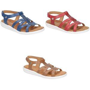Hush Puppies Hush valper kvinner/damer Callie touch festing sandaler Rød 3 UK