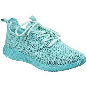 Divaz kvinners/damer Heidi strikk sko Turkis 6.5 UK
