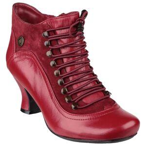 Hush Puppies Hush valper kvinners/damer Vivianna snøre støvler Rød 5 UK