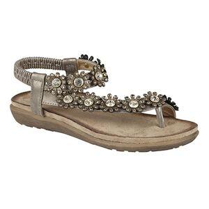 Boulevard Cipriata kvinners/damer Salva Toe innlegget blomst Design Sling tilbake sandaler Tinn 5 UK