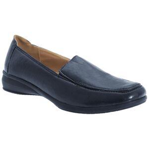 Boulevard kvinners/damer skinn som Twin kile sko Svart Patent 3 UK