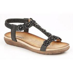 Cipriata kvinners/damer Giovanna sandaler Svart 3 UK