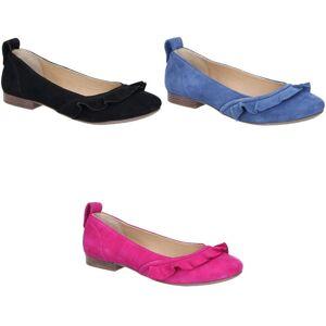 Hush Puppies Hush valper kvinner/damer Willow ballerina slip på skinn sko Blå 5 UK