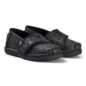 Toms Black Glitter Partall Espadrilles 21 (UK 4)