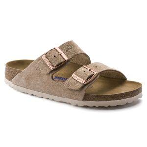 Birkenstock Arizona Suede Leather Soft Footbed Slim Beige