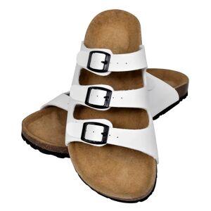 vidaXL Hvit Unisex Bio Sandaler med Korksåle 3 Reimer og 3 Spenner 41
