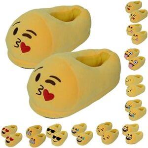 24hshop Emoji tøfler voksne