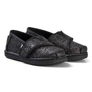 Toms Black Iridescent Glitter Tiny TOMS Classics 21 (UK 4)