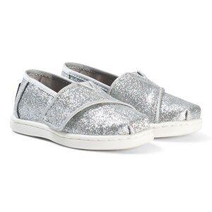 Toms Silver Iridescent Glitter Tiny TOMS Classics 26 (UK 8)